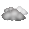 "Tagsymbol, Symbolcode ""e"", Kompakte Wolken"