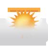 """Tagsymbol, Symbolcode """"t"""", Nebelig, über dem Nebel sonnig"""